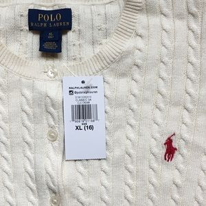 Polo by Ralph Lauren Shirts & Tops - Polo Ralph Lauren Cable Knit Cardigan